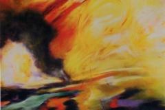 Fuochi 2008 /Faville cm 80 x 80 - acr.  su tela