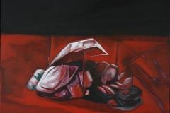 Domenico Castaldi-Clochard acrilico su tela anno 2011